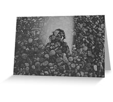 stone and mirror Greeting Card