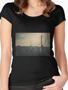 """There is a crack in everything. That's how the light gets in.""  ~ Leonard Cohen Women's Fitted Scoop T-Shirt"