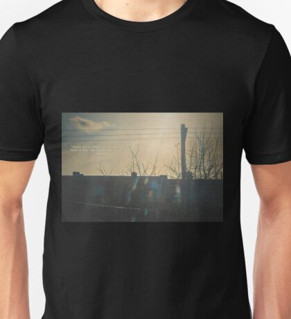 """There is a crack in everything. That's how the light gets in.""  ~ Leonard Cohen Unisex T-Shirt"