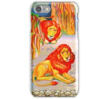 Two lions iPhone Case/Skin