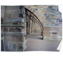 Arches at the side of the front entrance to Dunfermline Abbey Poster