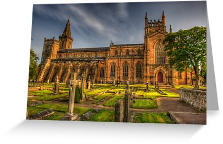 Dunfermline Abbey Scotland - Side view by Susan Dost
