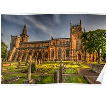 Dunfermline Abbey Scotland - Side view Poster