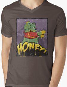 Zombie Pooh Mens V-Neck T-Shirt