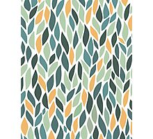 Colorful Leaves Pattern Photographic Print