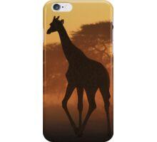 Giraffe - African Wildlife Background - Triangles in Nature iPhone Case/Skin