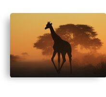 Giraffe - African Wildlife Background - Triangles in Nature Canvas Print