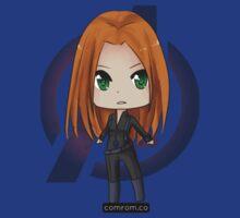 Black Widow Chibi (standalone) by KlockworkKat by commonroompc