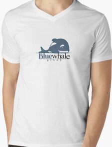 The Blue Whale Group Mens V-Neck T-Shirt