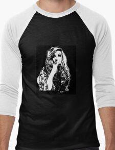 Mia Swier - Black & White Men's Baseball ¾ T-Shirt