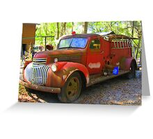 Firetruck from the Past Greeting Card