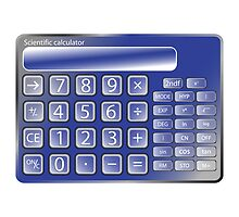 Blue calculator by Laschon Robert Paul