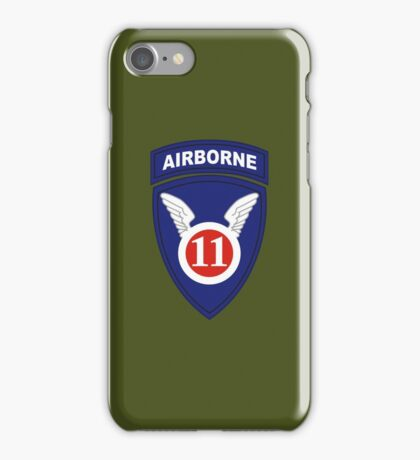 11th Airborne Division (United States - Historical) iPhone Case/Skin