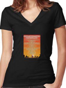 Post Appocalypse survival kit Women's Fitted V-Neck T-Shirt