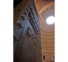 Making an entrance (The Pantheon, Rome) Photographic Print