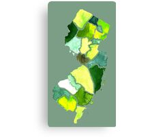 Jersey State Watercolor Canvas Print