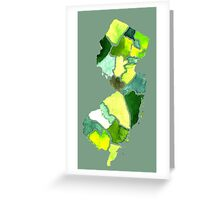 Jersey State Watercolor Greeting Card