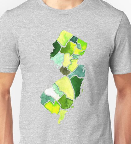Jersey State Watercolor Unisex T-Shirt