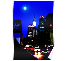 New York In Blue Poster