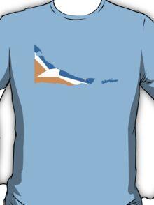Flag Map of Tierra del Fuego Province T-Shirt
