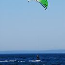 Kiteboarder in Seattle, Elliot Bay by SparrowPhoto