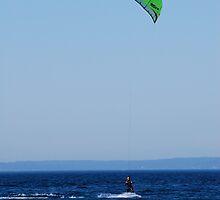 Kiteboarder in Seattle, Elliot Bay by SparrowPhoto