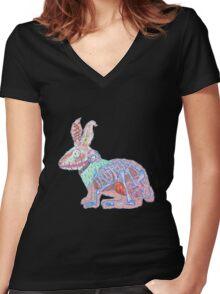 Disgruntled Rabbit Anatomy Women's Fitted V-Neck T-Shirt