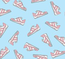 Pink and Blue Cute Sneakers Pattern by Blkstrawberry