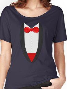 FormalFriday Tuxedo Shirt Women's Relaxed Fit T-Shirt