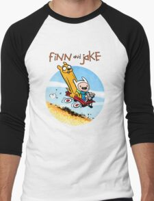 Finn and Jake Men's Baseball ¾ T-Shirt