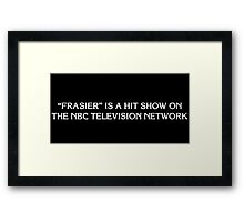 The Simpsons Frasier title card (Brother From Another Series) shirt Framed Print