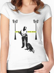 Cleaning Up Crime Women's Fitted Scoop T-Shirt