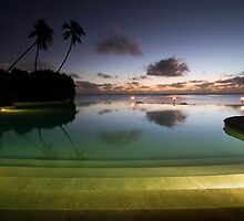Aitutaki - Sunset Pool by Michael Treloar