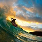 Skimboarder in Maui by printscapes