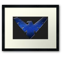 NIGHTWING - Superhero logo Framed Print