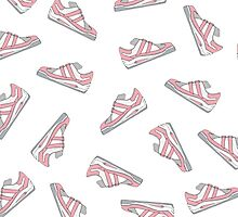 Pink and Gray Cute Sneakers Pattern by Blkstrawberry