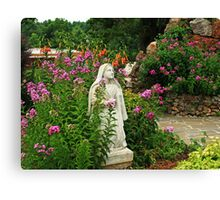 Mary in her Garden Canvas Print