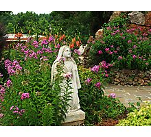 Mary in her Garden Photographic Print