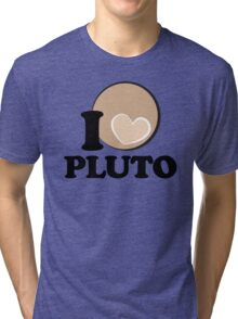 I Heart PLUTO Tri-blend T-Shirt