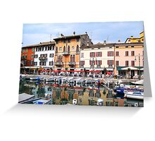 Harbor of Sirmione. Lombardia, Italy 2009 Greeting Card