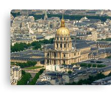 Paris from the top of the Tour Montparnasse Canvas Print