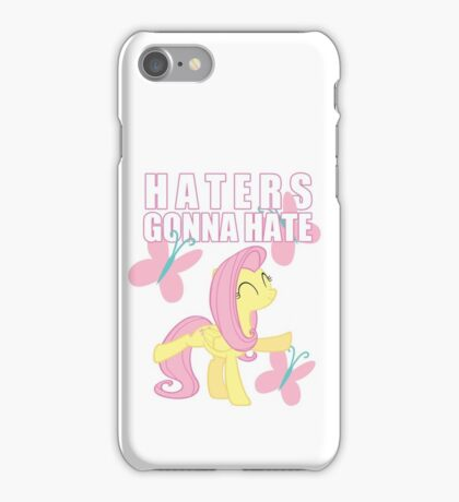 Fluttershy and butterflies iPhone Case/Skin