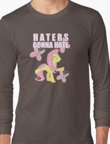 Fluttershy and butterflies Long Sleeve T-Shirt