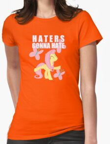 Fluttershy and butterflies Womens Fitted T-Shirt