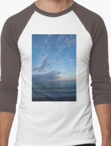 Pale Blues and Feathery Clouds in the Fading Light Men's Baseball ¾ T-Shirt