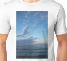 Pale Blues and Feathery Clouds in the Fading Light Unisex T-Shirt