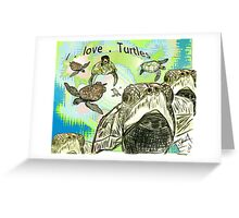 Sea Turtle art Greeting Card