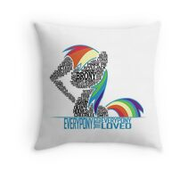Brony Typography (white) Throw Pillow