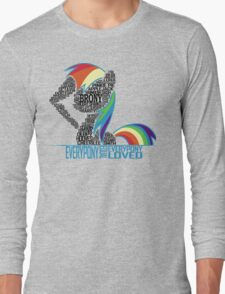 Brony Typography (white) Long Sleeve T-Shirt