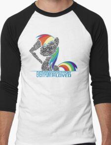 Brony Typography (white) Men's Baseball ¾ T-Shirt